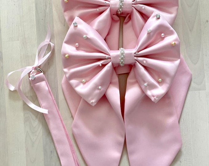 Pearl Bow Curtain Tie Back set