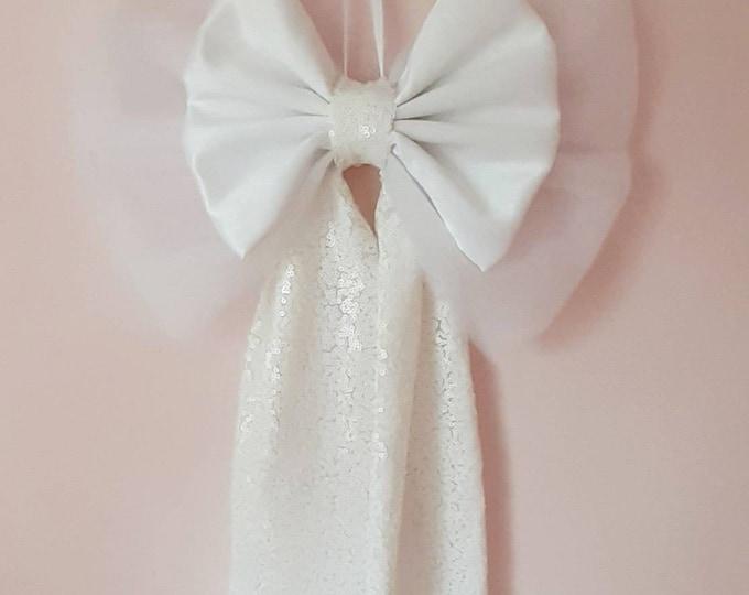 Large White Christmas Bow