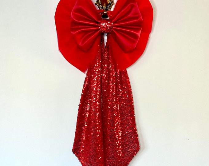 Large Red Christmas Bow