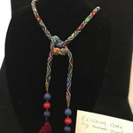 Handmade Small Beaded Necklace/Belt/Headband: Bead Crochet Collection