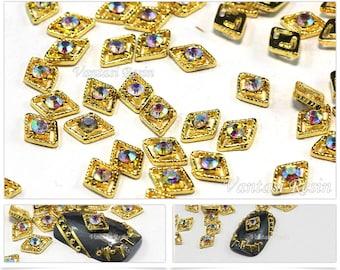 5mmx8m Metallic stocking nail art studs charms charm 3D Nail Art Decoration  nail art supplies rhinestone Gold nails decal nail polish design dd51ccdca983