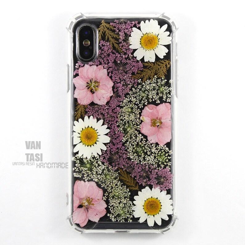 coque iphone 8 plus vraies fleurs