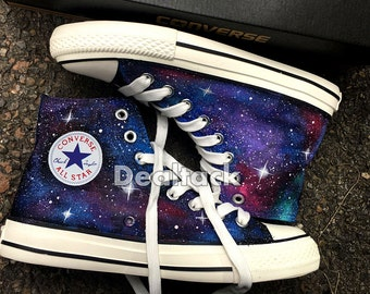 Custom Galaxy Sneakers, Custom Galaxy Converse, Galaxy Painted Converse, Galaxy Painted Shoes, Galaxy Design Shoes, Galaxy Painted Sneakers