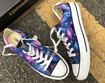 Custom Painted Galaxy Shoes, Custom Painted Galaxy Converse, Nebula Painted Sneakers, Custom Galaxy Sneakers, Handpainted Nebula Shoes