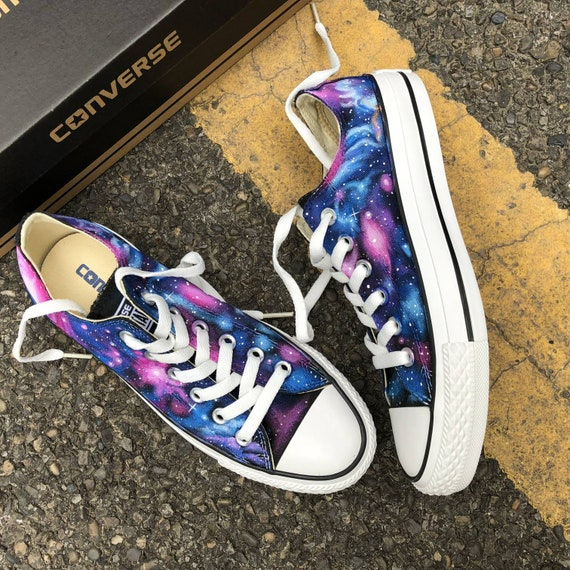 Custom Painted Galaxy Converse