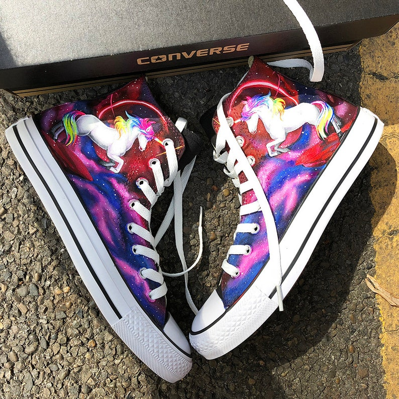 d164b840041b Custom Painted Galaxy Unicorn Sneakers Personalized Unicorn