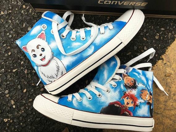 Benutzerdefinierte Fullmetal Alchemist Anime gemalt Converse, personalisierte bemalt Anime Schuhe, benutzerdefinierte bemalt Anime Sneakers,
