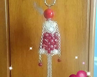 Necklace with Beaded Doll