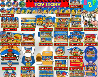 TOY STORY Birthday Decoration, Toy Story Decorations Printable, Children Birthday, Kids Party Pack, Decoration Bundle - Instant Download