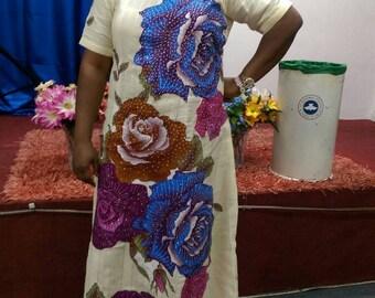 Mogan Flowered Straight Dress