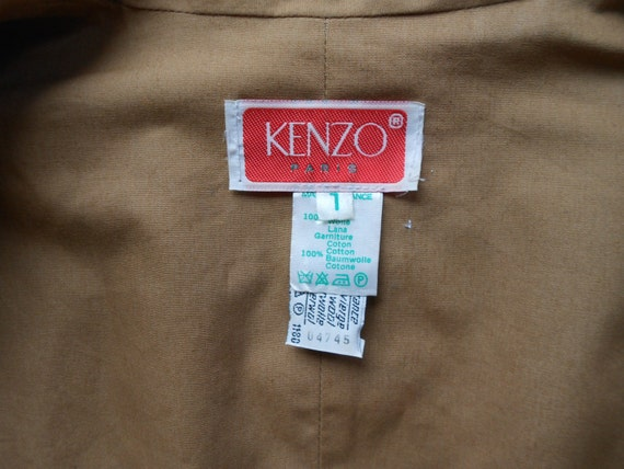 Vintage Kenzo : short female camel wool jacket, s… - image 4