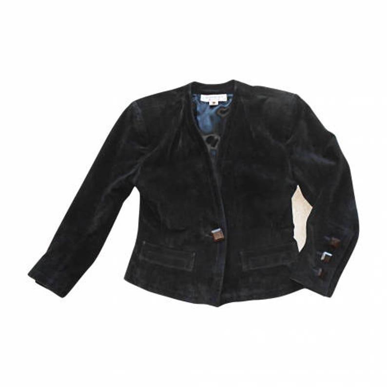 87b98324f9 YSL * Yves SAINT LAURENT : black leather jacket, size M, vintage 80s, Saint  Laurent vintage jackets luxury Made in France blazer