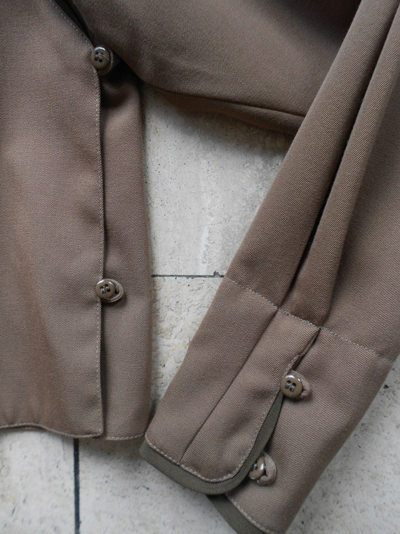 Vintage Kenzo : short female camel wool jacket, s… - image 9