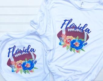 meet 9e49e 0cd83 Florida Gator Floral, Florida Gators Shirt ,Game Day TShirt, Gator T shirt,  Gator football, Tailgate shirt, UF gameday shirt, mommy and me