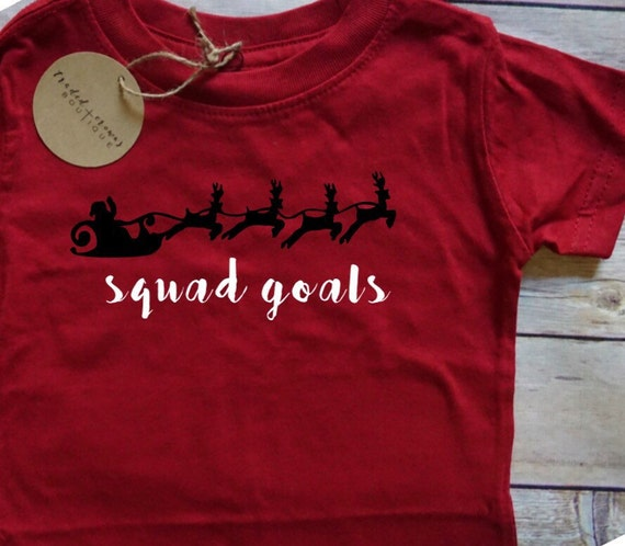 squad goals babychild christmas tee santa reindeer holiday graphic tee