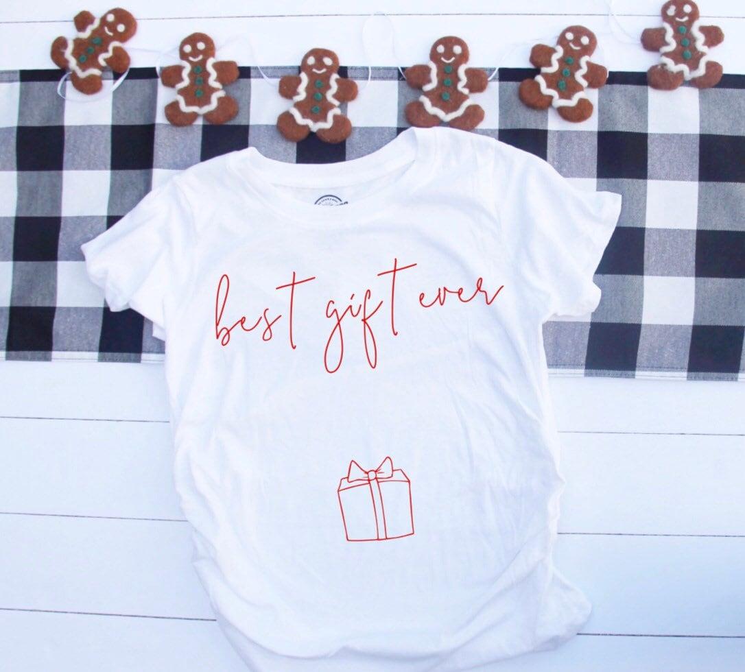 christmas pregnancy announcement christmas maternity shirt maternity christmas shirt pregnancy announcement shirt - Maternity Christmas Shirt