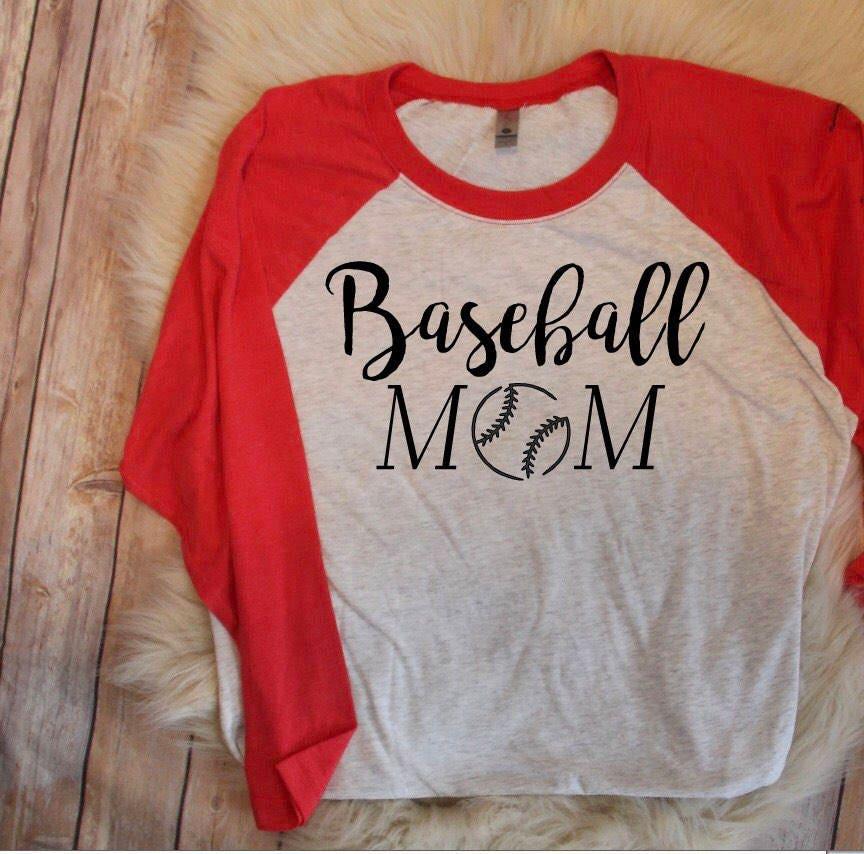 8d6497be SALE Baseball Mom Baseball Tee, Baseball Mom Shirt, Baseball ...