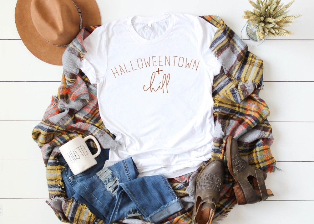 e4637aaf Halloweentown Shirt, Womens fall shirt, fall tshirt, hello fall shirt ...