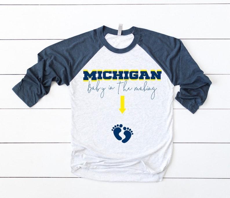 8c6fed15265 Michigan Wolverines Maternity Shirt Wolverines Maternity Tee   Etsy