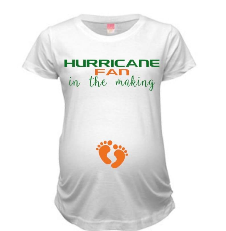 cf7911d330d4e Miami Hurricane Maternity Shirt Hurricanes Maternity tee UM | Etsy