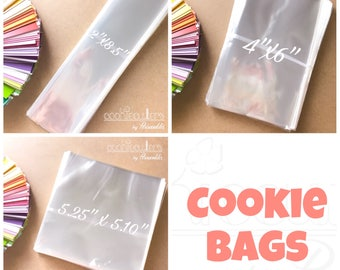 "Clear ""cello"" Cookie bags - FDA Approved - Food Bags - Periwinkles"