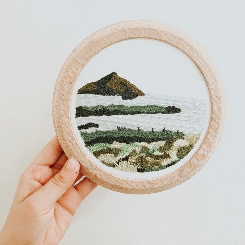 Custom Landscape Embroidery Hoop image 0