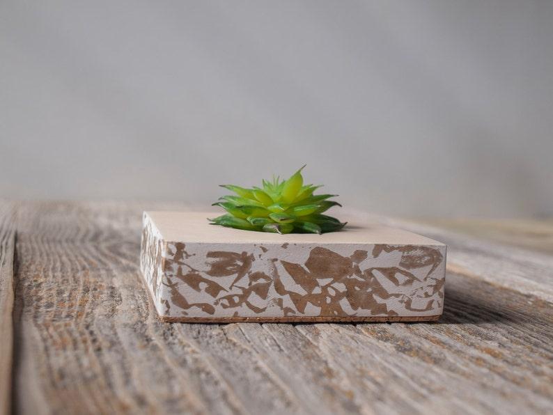 Wood succulent planter Wooden succulent planter Small plant pot Confetti planter Scandi design Air pot Modern Minimalist planter