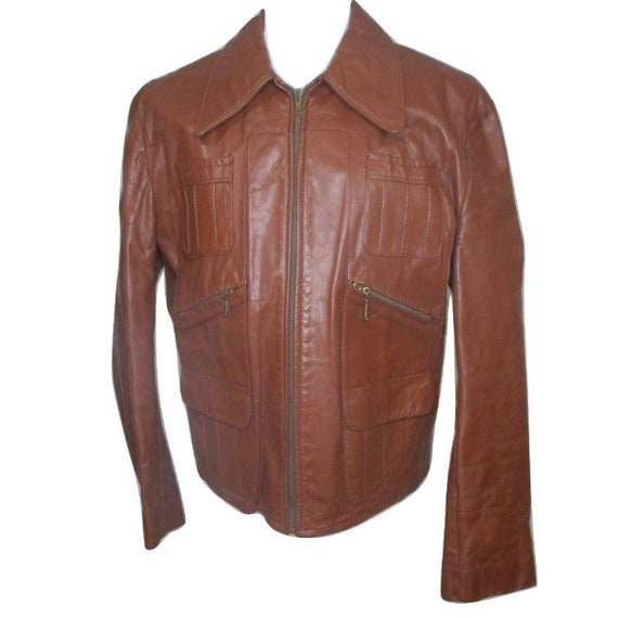 Sears The Leather Caramel Brown Jacket Coat