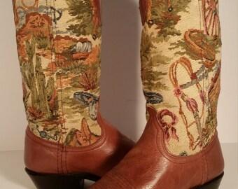 311fdbed30b Brown dan post boots | Etsy