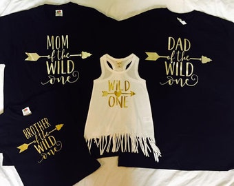 3dc8544d Family of The Wild One Shirts- Wild One Birthday Party- First Birthday  Family Shirts- Mom and Dad of the Wild One- Wild One Fringe