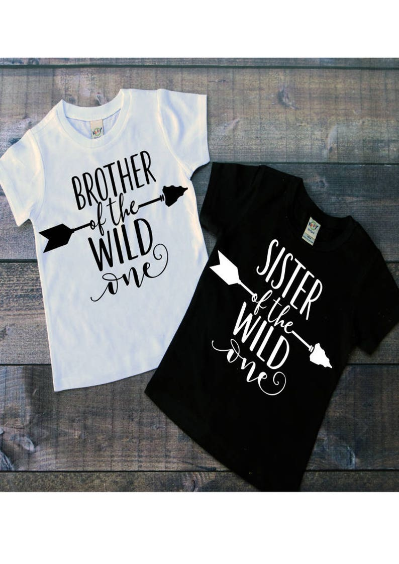258b7938 Brother and Sister of the Wild One T-Shirts Wild One | Etsy
