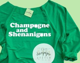 4efd4232dd98a Champagne and Shenanigans Slouchy Sweatshirt