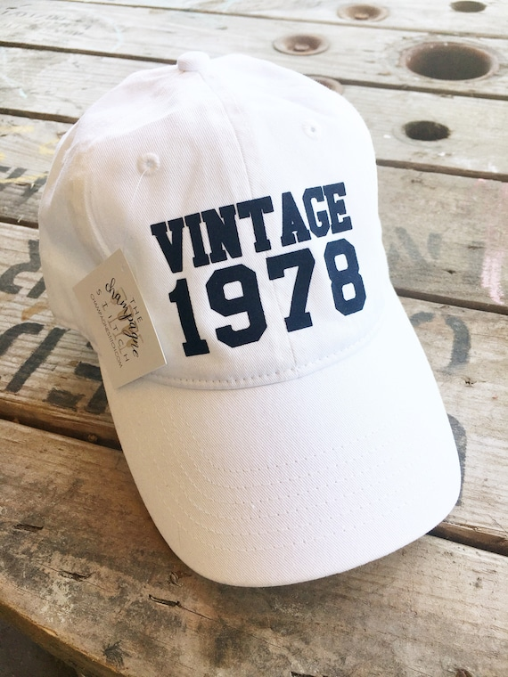 Vintage Custom Birthday Hat 40th Gifts For Women