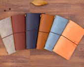 PREORDER: Leather Travelers Notebook (See description for size) with two inserts, card pockets, and zipper pouch inserts