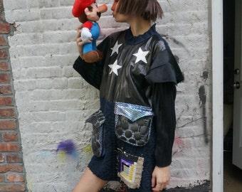 SUPER MARIO ROCKSTAR leather dress !