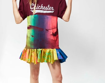 Chichester hand printed soccer t dress