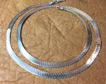 "24"" Sterling Silver Serpentine Chain - 3/16"" Wide"
