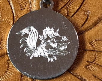 Sterling Etched Dragon Charm