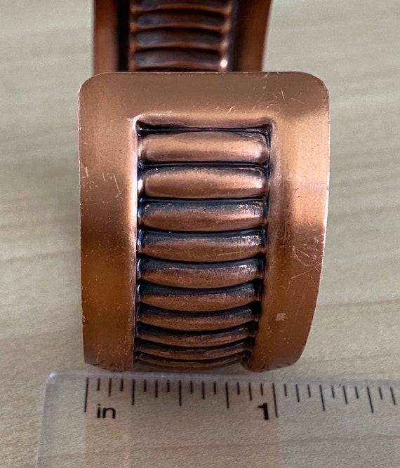 Mid Century Modern Copper Cuff Bracelet - image 3