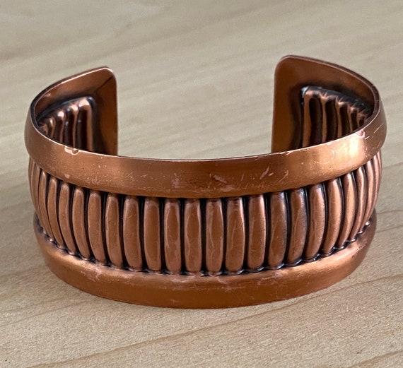 Mid Century Modern Copper Cuff Bracelet - image 1