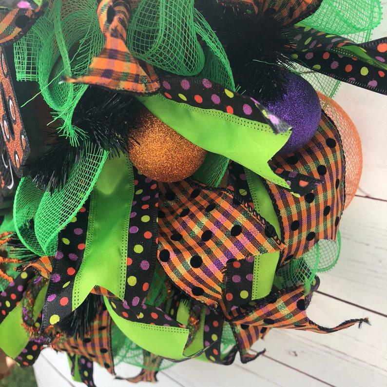 Halloween wreath-front door wreath-Halloween decoration-Fall wreath-Wreaths-Mesh wreath-happy Halloween-Wicked wreath