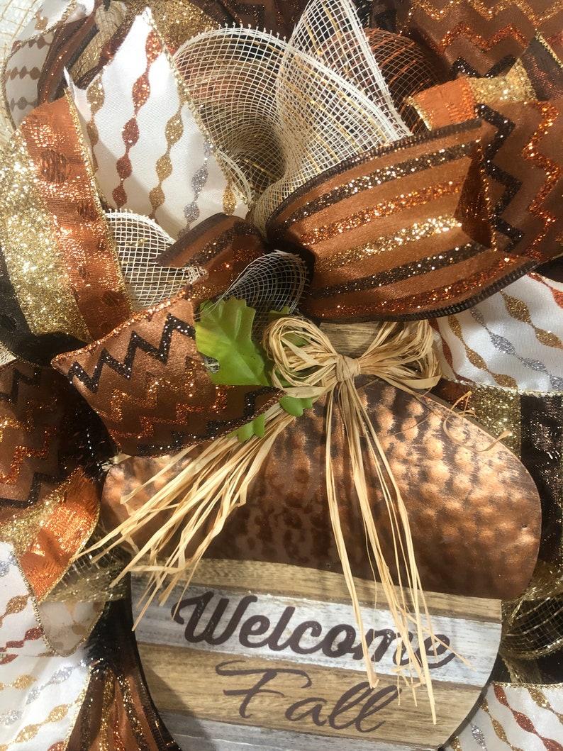 Fall wreath-mesh wreath-pumpkin wreath-fall deco mesh wreath-burlap wreath-front door wreath-fall decor-Autumn wreath
