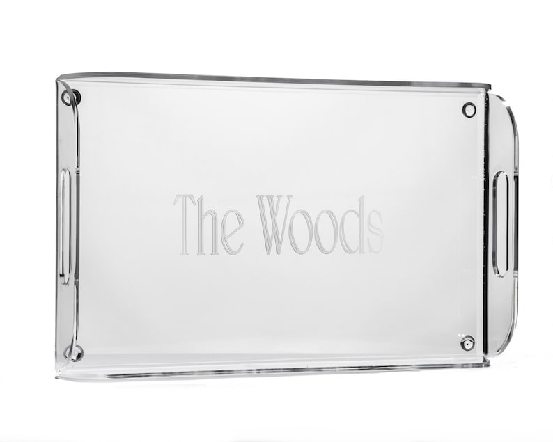 Girlfriend Gift Monogrammed Acrylic Serving Tray Housewarming Gift Wedding Gift Personalized Acrylic Hostess Gift Gift for Her