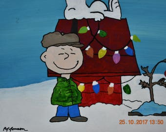 "Charlie Brown Christmas - 11"" x 14"" - acrylic-stretched canvas"