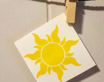 Tangled Sun Car Decal Tangled Sun Decal Tangled Sun Sticker Tangled Car Decal Tangled Decal Disney Car Decal Disney Decal Disney Sticker