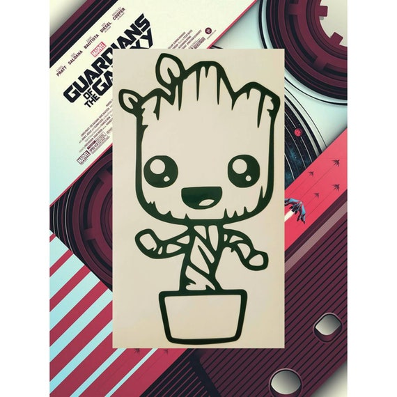 "Baby Groot Guardians of the Galaxy Car Truck Laptop decal sticker 5.5/"" Brown"