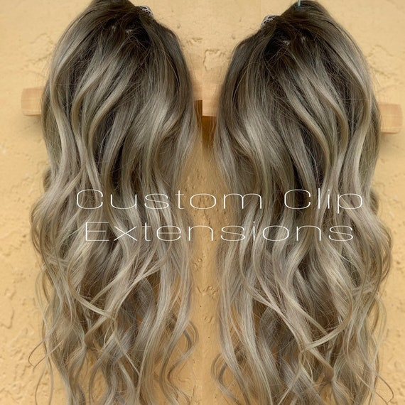 Extensions blond braun