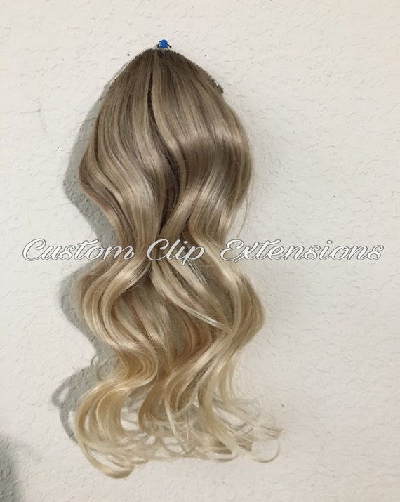 Blonde Balayage Clip In Hair Extensions Blonde Clip In Hair Etsy