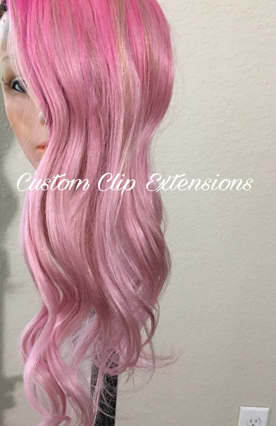 Pink Balayage Hair Extensions Pinkclip In Hair Extensions Etsy