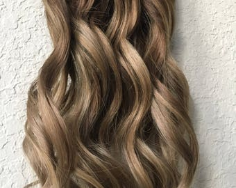 Balayage Blonde Human Hair Extensions ,Clip In Hair Extensions, Hair Extensions, , Custom Hair Extensions,clip in Hair.